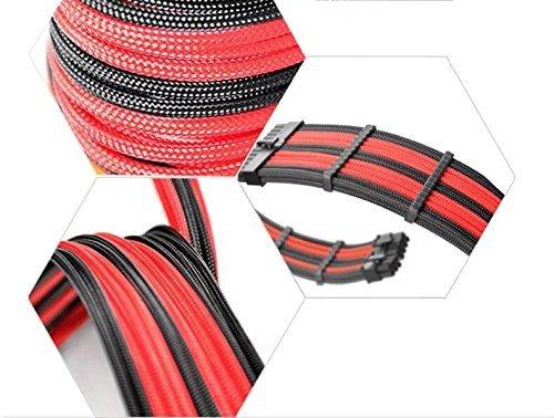 『Novonest 3.4mm スリーブケーブル PCケーブルコーム ガイド スリーブガイド (24点セット 24-pinx4、8-pinx12、 6-pinx8)黒い【CM245】』の4枚目の画像