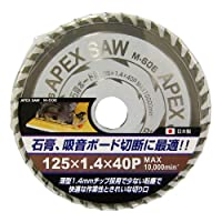 APEXSAW 石膏ボード用125mm40p M-606