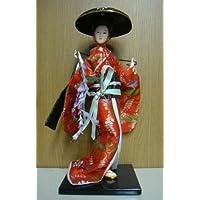 ホームステイのプレゼントに 日本人形 外国人への土産に最適! 日本人形 12インチ 藤娘 12-2