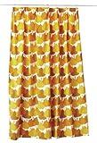 クォーターリポート QUARTER REPORT ドレープカーテン 100×178 メープル オレンジ