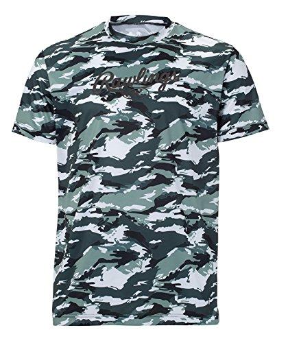 Rawlings(ローリングス) カモ柄Tシャツ AST8F07 グリーン L