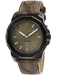 [ペリー・エリス]Perry Ellis 腕時計 DECAGON(デカゴン) クォーツ 42 mmケース 本革バンド 08008-01 メンズ 【正規輸入品】