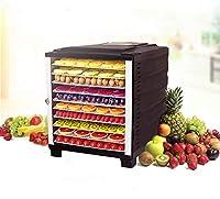 食品脱水機、果物と野菜の乾燥機、肉脱水機、8-10層ステンレス鋼トレイ、タイマー、透明窓