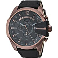 Diesel Stainless Steel & Leather Watch