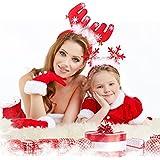 4 PcsクリスマスReindeer Antlers Headband Headwearヘアフープパーティー、コスプレ、クリスマスの装飾2スタイル