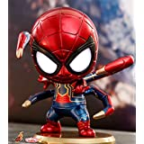 ホットToys Cosbaby Orginal Iron Spider Light Up機能バージョンColletible Bobble Head Figureアベンジャーズ3infinity War Marvel Disneyおもちゃcosb448