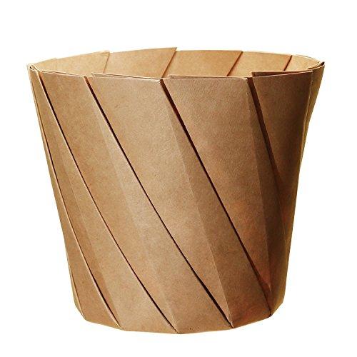 ストリックスデザイン おりがみカップ L 20枚 茶 上径12.5cm、高さ11cm お皿に変わる紙カップ L SD-417