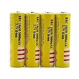 4本 5000mAh 18650 3.7V 充電式リチウムイオン電池