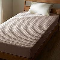 [ベルメゾン] 先染め綿100%のボックスシーツ型敷きパッド グレー サイズ:セミダブル