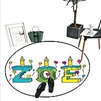 Zodiac ホームインテリア 円形 エリアラグ ヴィンテージ オーナメント 曼荼羅 円形 ホロスコープの看板 古い紙の背景 ドアマット 屋内 バスルームマット スモール ラウンド カーペット タン ブラウン D4'/1.2m
