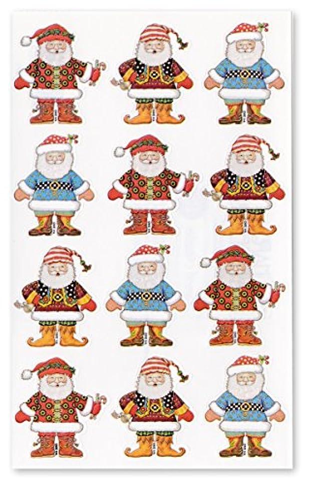 インテリアシェア評価パンチスタジオ 【クリスマス】 ステッカー シール (サンタクロース×ファッション) 39829R