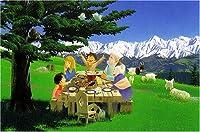 300ピース ジグソーパズル アルプスの少女ハイジ 木もれ陽の食卓 (26x38cm)