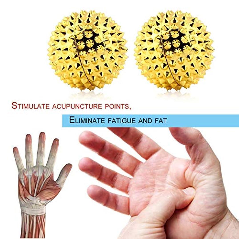 魔術師少なくとも市民権磁気手のひら鍼灸ボール針マッサージ 手の痛みを軽減マッサージヘルスケア機器