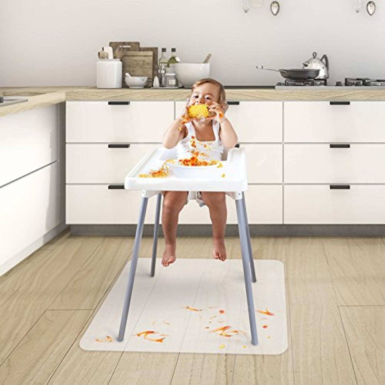 ベビーハイチェア用椅子マット 子供の床 給餌 プレイマット BPA、フタル酸エステル、無臭 2サイズ展開 36