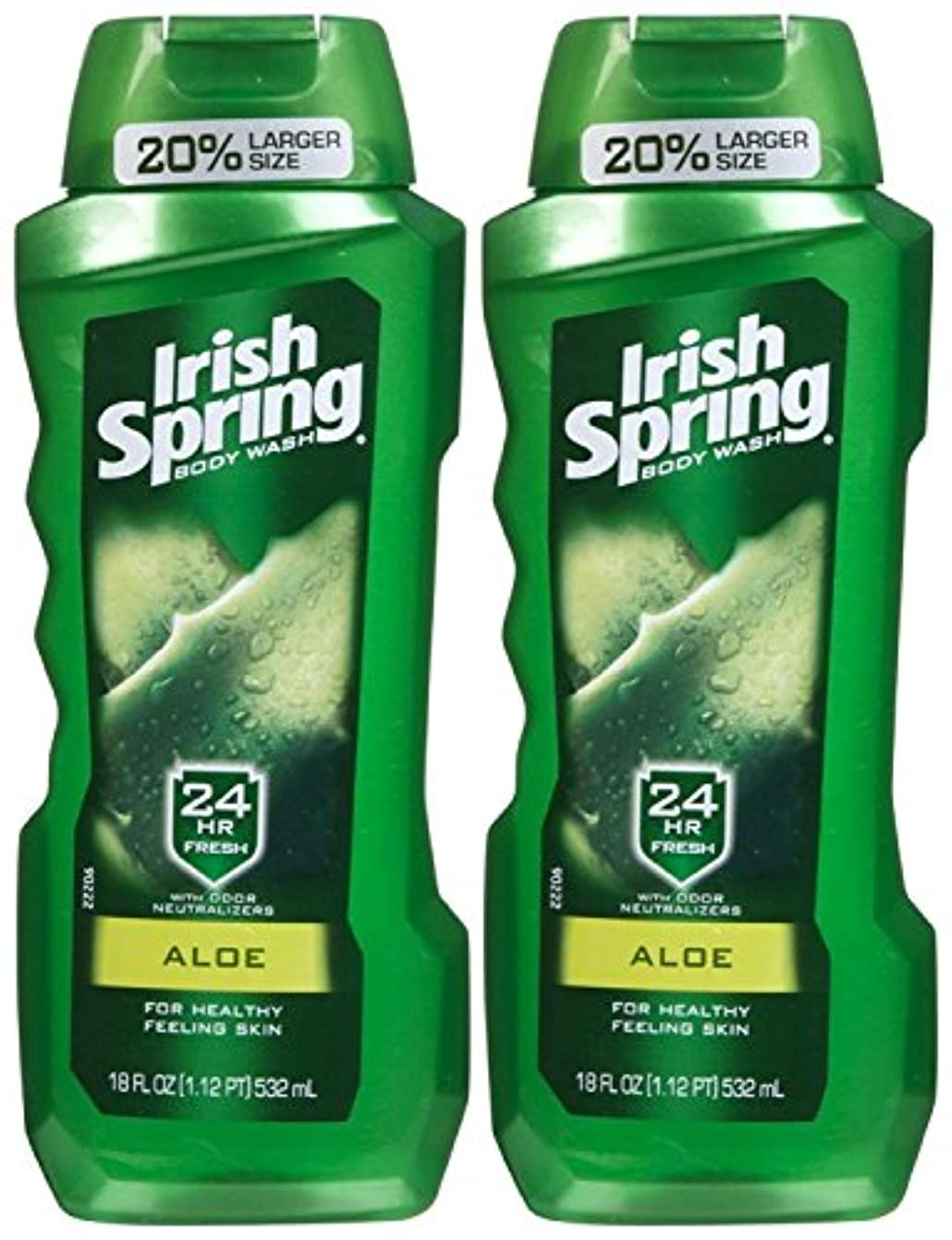 所持一流の間でIrish Spring Body Wash Aloe 24 Hr Fresh 18 Oz by Irish Spring