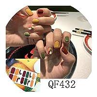 ネイルズステッカー14Tipsイチゴステッカーネイルアートラップマニキュアインスタイルステッカー接着剤マニキュア装飾、Qf432