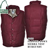 Flannel Down Sierra Vest 9980: Burgundy