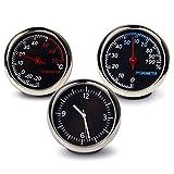 エルメス 腕時計 追加メーター風 アナログ 3連メーター 温度計 湿度計 時計 マルチ車載 PR-3meter