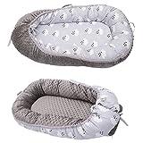 添い寝ベッド ベッドインベッド お出かけ おむつ換え コンパクトベット ベビーベッド ベッドガード フェンス 両面使用 持ち運びに便利 調節可能 洗濯可 (グレー)