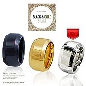 CHILL FACTOR 日本総代理 グランスリング コックリング ブラック&ゴールド 006CR-061 (L, ゴールド)
