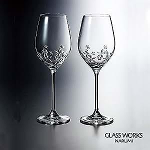 ( グラスワークス / ナルミ ) スターフラワー ペアワイングラス