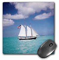 3drose LLC 8x 8x 0.25インチのマウスパッド、SereneヨットBeautiful Ocean (MP 22277_ 1)