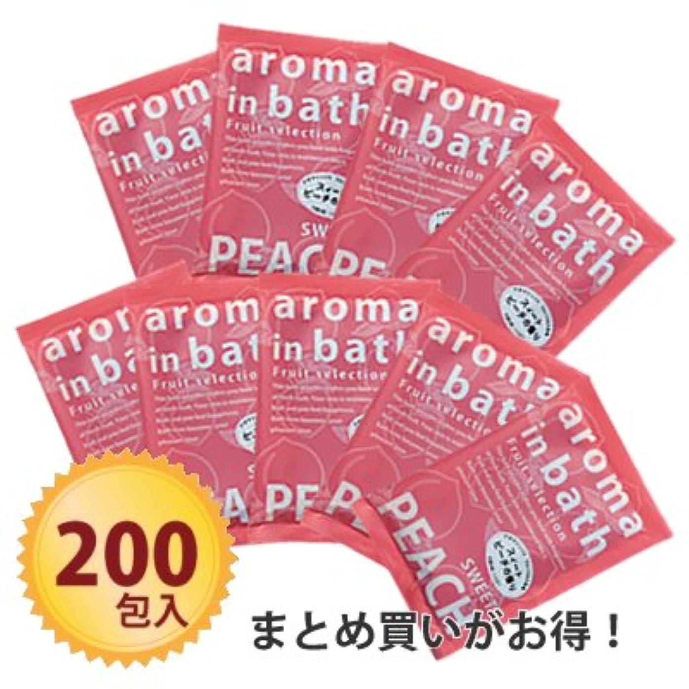 人気泣くパーセント粉体入浴料 アロマインバス25g スイートピーチ ×200個