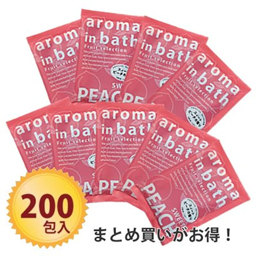 策定するショット孤独な粉体入浴料 アロマインバス25g スイートピーチ ×200個