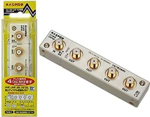 マスプロ電工 屋内用4分配器 全端子電流通過型 CSP4D-P
