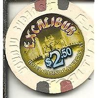 $ 2.50 Excaliburオレンジラスベガスカジノチップ