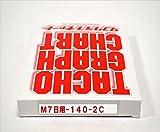 小芝記録紙 ( KOSHIBA ) チャート紙 【7日用】 140Km/h(赤ライン) 10組入リ KM-7-140-2C