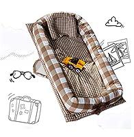 ベビーラウンジャーベビーベッド用ベッド掛け布団通気性低刺激性100%コットンポータブルベビーベッドスーパーソフトで夏マット,brown