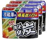 【まとめ買い】 脱臭炭 冷蔵庫用 脱臭剤140g×3個