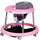 【DEARGENA】ベビーウォーカー、6~18ヶ月の赤ちゃん用多機能、横転防止、折りたたみ式、足がぶつかりません、座り、折りたたむことができます