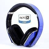 August Bluetooth ステレオ ヘッドホン 有線 無線 両用 EP650(青)