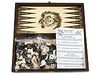 バックギャモン+チェス+チェッカーセット(木製)26.5cm×26.5cm ポーランド製 Backgammon & chess & Checkers set