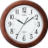 CITIZEN (シチズン) 電波 掛け時計 リバライトF461 夜間自動点灯 木枠 8MY461-006