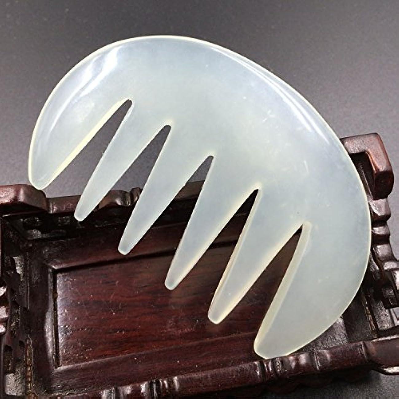 透過性道儀式1点1pcFace / Body Massage Natural Jade Gua Sha combかっさ 櫛天然石 翡翠