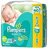パンパース おむつ 新生児サイズ (~5kg) テープ さらさらケア 114枚
