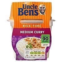 叔父ベンの米時間培地カレーマイクロ波レディミール300グラム (x 6) - Uncle Ben's Rice Time Medium Curry Microwave Ready Meal 300g (Pack of 6) [並行輸入品]