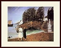 キリコ・「アルゴ船一行の出発」 プリキャンバス複製画・ 額付き(デッサン額/大衣サイズ)