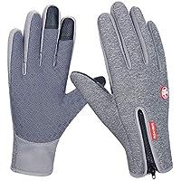 Anqier Winter Touchscreen Gloves,Warm Windproof Non-Slip Cycling Gloves Men Women for Outdoor Driving Climbing Hiking Running