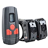 Aetertek AT-211sw Rechargeable Small Dog Cat Training Collar with Remote Vibrate,beep Tone ,9 Level Shock 350M (two dogs collar) by Aetertek