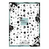 写ネイル ネイルシール Sha-NailPro BLACK&WHITE FLOWERS? BWF-001