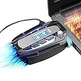 llano 吸引式ノートPC冷却ファン ノートPC排気口取付型ファン 温度が自動に測って表示され 手動で風量を調整可能 急速冷却 ゲーミングノートパソコン クーラー 冷却パッド 任天堂 Nintendo Switch 冷却 ノートクーラー pcクーラーファン コンパクト 静音 ノートPCの冷却台 PS4 ニンテンドースイッチの冷却