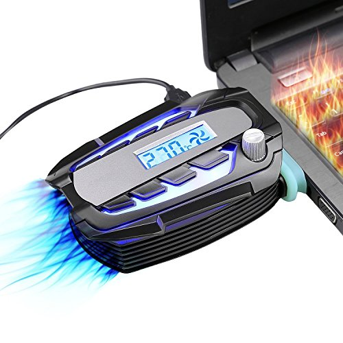 llano 吸引式ノートPC冷却ファン ノートPC熱対策 ノートPC排気口取付型ファン 温度が自動に...