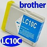 ブラザー(brother)対応 互換インク LC10系(LC10C) シアン単品 プリンターインク