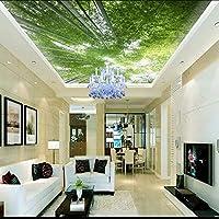 Xueshao カスタム写真の壁紙3D天井の壁紙竹の壁紙緑の風景空の装飾リビングルームの壁画E-150X120Cm