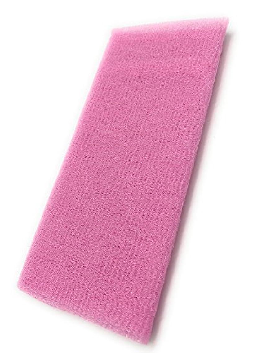 鋸歯状味付け感性Maltose あかすりタオル ボディタオル ロングボディブラシ やわらか 濃密泡 背中 お風呂用 メンズ 5色 (ピンク)