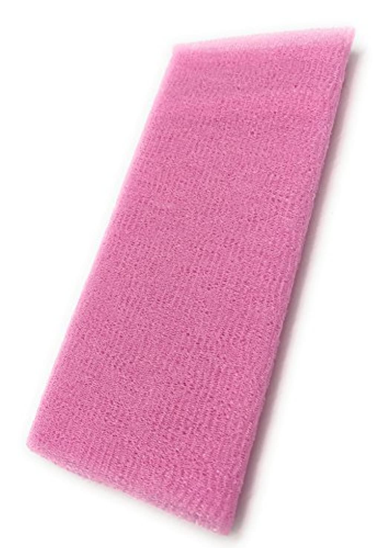 状況ジョリー横向きMaltose あかすりタオル ロング ボディタオル 体洗いタオル やわらか 泡立ち 背中 風呂用 メンズ 垢すり (ピンク)